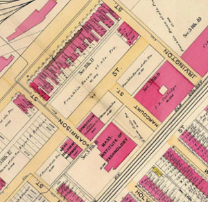 St Botolph 1883 map